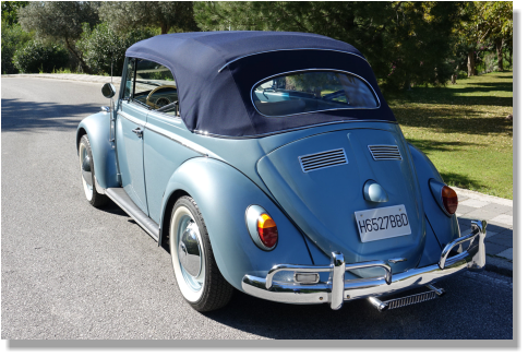 Classic Beetle car for music videos and shootings at South of Spain