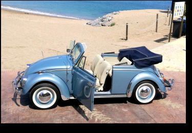 1966 VW Beetle to hire for photo shootings, music videos, and weddings